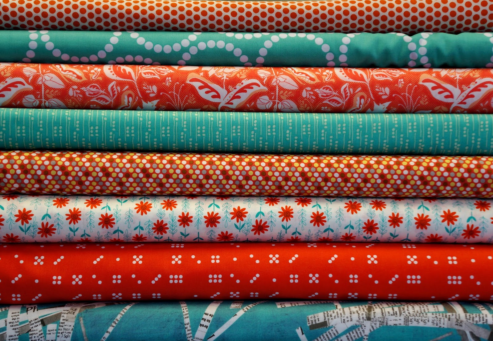 Different types of fabrics with pictures